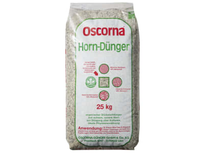 Oscorna® Hornspäne organischer Stickstoffdünger N 14 mit 85-90 % humusbildender Substanz und Spurenelementen 25 kg Sack