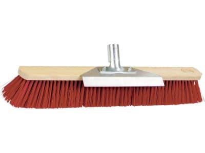 Kerbl Großraumbesen Elastan, rot, Rücken Holz, geschraubter Stielhalter Metall, Schabekante Metall