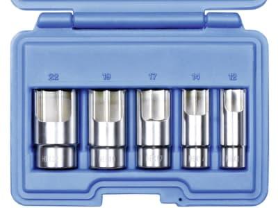 """Steckschlüsselsatz """"HEX"""" 3/8 """", 5-teilig, für die Montage von Hydraulik-, Luft- und Gas-Winkelstücken"""