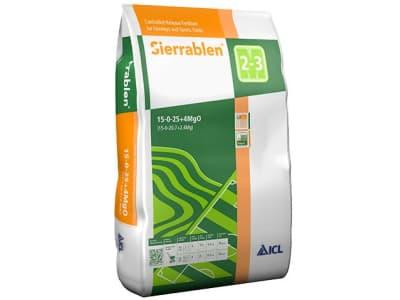 Sierrablen® K Profi mineralischer, grob granulierter, teilumhüllter NK 15+25 Erhaltungsdünger für Rasenflächen 25 kg Sack