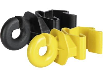 """Ako Ringisolator """"T-Post"""" 25 St., gelb; schwarz, für Drähte und Litzen"""