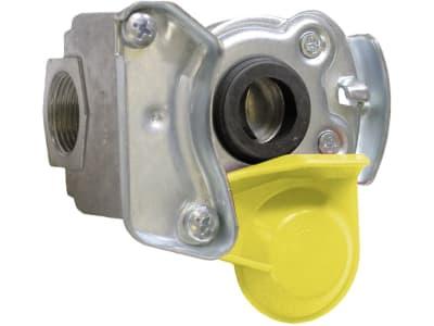 Kupplungskopf gelb, für Anhänger, 2-Kreis-Anlage, Bremse