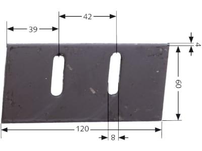Maschio Abstreifer 60 x 121 x 4 mm, M36100933R