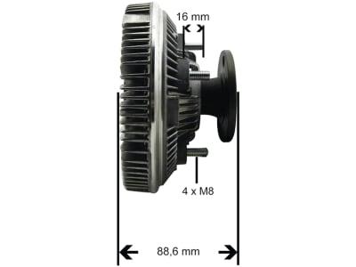 Viskokupplung für John Deere Traktor 6100SE–6400SE, 6200–6900