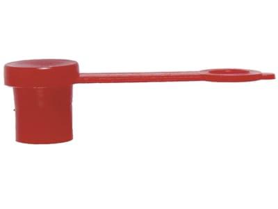 Samoa-Hallbauer Schutzkappe für Schmiernippel, mit Lasche, rot
