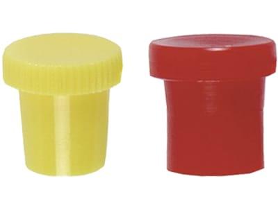 Samoa-Hallbauer Schutzkappe für Schmiernippel, ohne Lasche, gelb/rot