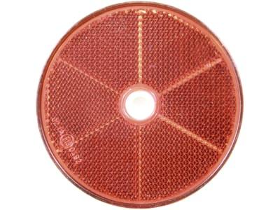 Rückstrahler rund, rot, Ø 60 mm, geschraubt