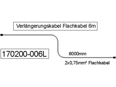 Verlängerungskabel 12 V, 2 x 0,75 mm², für Einfunktionsleuchten