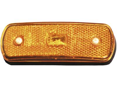LED-Seitenmarkierungsleuchte oval, gelb, 104,3 x 36,3 x 19,6 mm, 12 – 24 V, ohne Haltewinkel
