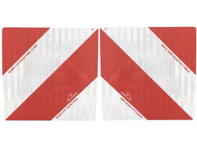 """Warntafel Typ """"3 Folie"""" links/rechts, einseitig, abweisend, ohne Beleuchtung, 282 x 282 mm, Stahl, verzinkt"""