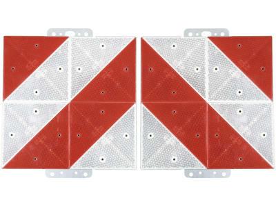 Warntafel links/rechts, reflektierend, 285 x 285 mm, Stahl, verzinkt