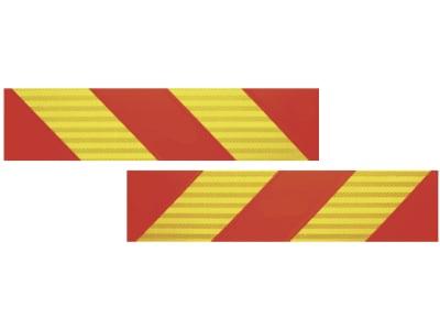 Warntafel 1 Paar, 565 x 133 x 1 mm, Aluminium; Blech, für LKW und Zugfahrzeuge