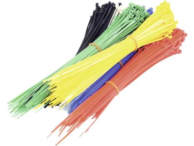 Kabelbinder 200 x 2,5 mm, farblich sortiert, 600 St.