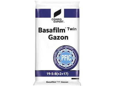 COMPO EXPERT Basafilm®Twin Gazon fein gekörnter NPK 19+5+8 Rasen- Langzeitdünger mit ISODUR® und CROTODUR® 25 kg Sack