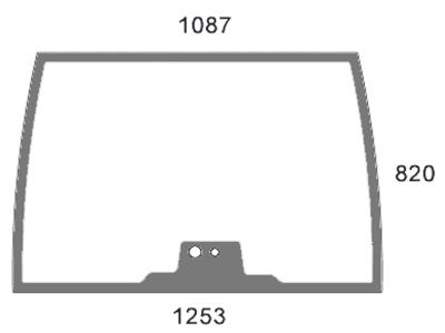 Frontscheibe, klar, Siebdruck, für Fendt Farmer 307–415, Favorit 509–926