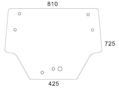 Frontscheibe, klar, für Fendt Farmer 260 – 280 P
