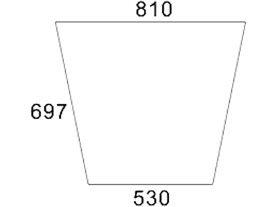 Frontscheibe, klar, mittig, für Fendt Farmer 102 – 108 S - Kabine Peko