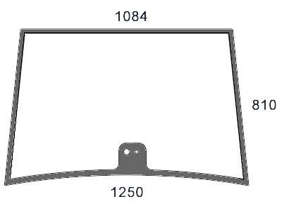 Frontscheibe, grün, Siebdruck, für Fendt Farmer 307–312, Favorit 916–926, F 370 GT