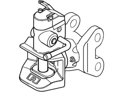 "Rockinger Anhängekupplung ""RO855A"", schwarz, Stützlast 1,5 t, D-Wert 59,8 kN, für MB-Trac 700–1100 (7,5 t), Bolzen zylindrisch, RO855A0432C"
