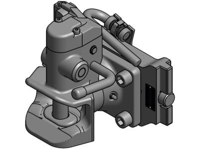 """Rockinger Anhängekupplung """"RO865B50 mit RO899G3"""", schwarz für Sauermann Drehbolzensystem, Ø Bolzen 30,6 mm, RO855X2050C"""
