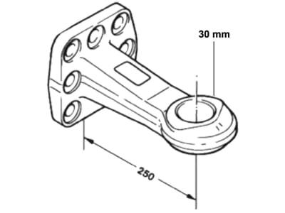 Rockinger Zugöse Ø 40 mm, Stützlast 1,0 t, D-Wert 130 kN