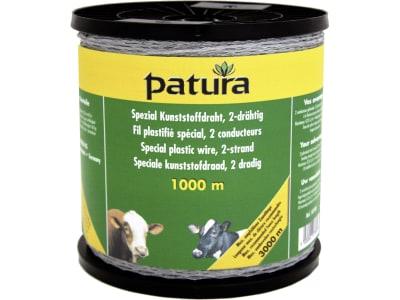 "Patura Weidezaundraht ""Spezial"", Kunststoff transparent, Leiter Eisendraht, verzinkt 2 x 0,50 mm, 1.000 m, 107500"