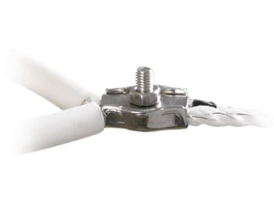 Patura Seilklemme Edelstahl, Anschluss, Verklemmung und elektrischen Verbindung von Weidezaunseilen, 160405