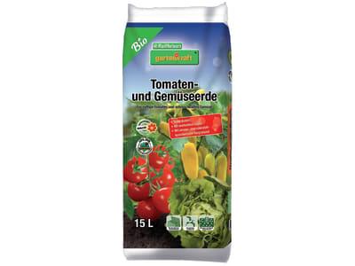 gartenkraft® Bio Tomaten- und Gemüseerde torfreduziert  15 l Sack