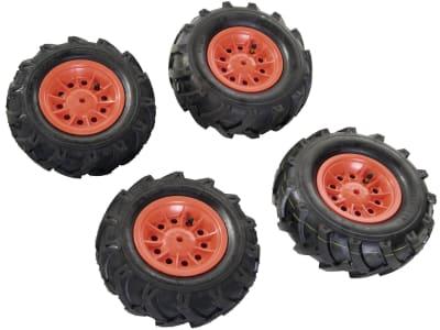 "Rolly Toys® Luftbereifung, 2 St. Räder 260 x 95, 2 St. Räder 325 x 110 für Fendt Trettraktor ""211 VARIO"", Claas Trettraktor ""AXOS 240"", 40 958 7"