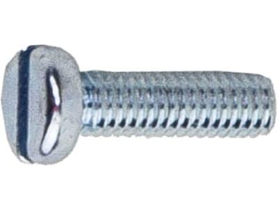 Zylinderschraube DIN 84, 4.8, Stahl, verzinkt; blau passiviert (A2K), mit Längsschlitz