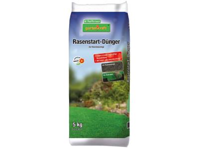 gartenkraft® Rasenstartdünger zur optimalen NPK 19+22+5 Nährstoffversorgung von Rasen-Neuansaaten