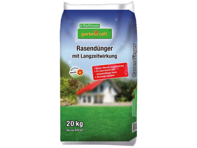 gartenkraft® Rasendünger mit Langzeitwirkung NPK 18+4+13.5 mit Langzeitwirkung, mit allen wichtigen Nährstoffen