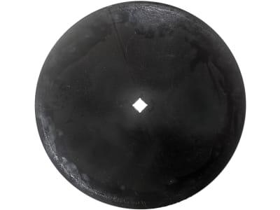 Eggenscheibe 610 x 6 mm, ZB Vierkant, 31 x 31 mm, gewölbt, glatt, für Rabe