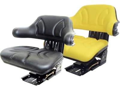 "Traktorsitz ""VS 200/300"", mechanisch gefedert, PVC-Kunstleder, schwarz/gelb"
