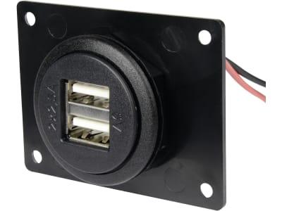 Herth + Buss USB-Steckdose Ø 27,8 mm mit USB-Ladebuchse 5 V/5 A, Einbau, mit Überspannungsschutz, 51 306 856