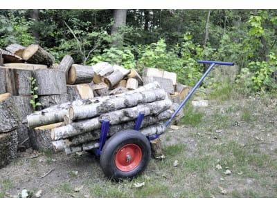 """Rückewagen """"Holztrolley"""" für Meterholzstämme bis zu 50 cm Durchmesser oder Holzbündel"""