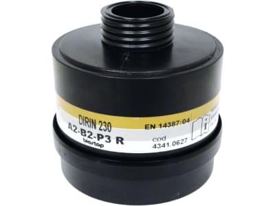 """Ekastu Partikelfilter """"Dirin 230 A2 B2-P3R D"""" , für Atemschutzmaske, giftige und hochgiftige Partikel, organische/anorganische Gase und Dämpfe, 422 781"""