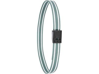 Kerbl Halsmarkierungsband 130 x 4 cm Klemmverschluss Kunststoff, grün; weiß, 20923