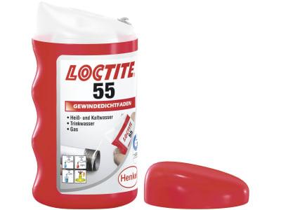 """Loctite® Gewindedichtfaden """"55"""", 160 m, weiß, niedrige Demontage-Festigkeit, 2056936"""