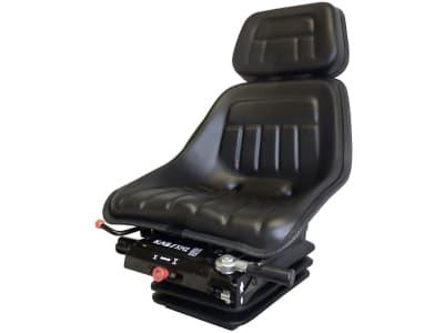 """KAB Traktorsitz """"XH2/P2"""", mechanisch gefedert, flach, PVC-Kunstleder, schwarz"""
