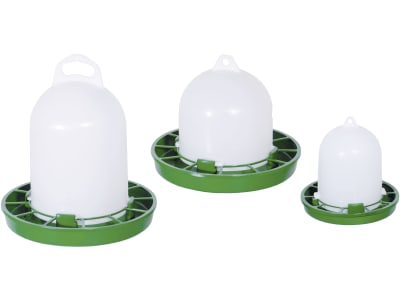 Stükerjürgen Futterautomat Kunststoff grün; weiß für Wachteln, Ziergeflügel und Zwergküken