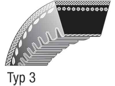 Keilriemen 13 x 730 Li für Wellenantrieb Vorwärtsgang