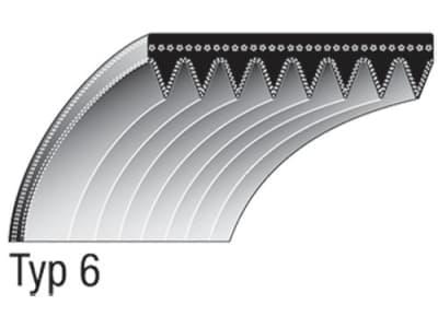 Keilriemen 24 x 490 mm für Fahrantrieb, 10-rillig