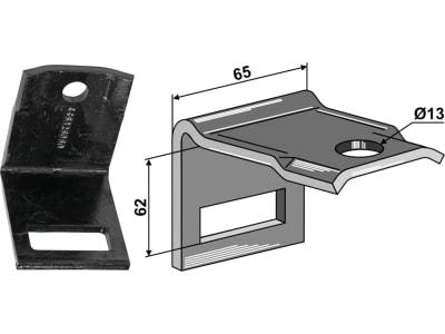 """Industriehof® Zinkenhalter """"C"""" 65 x 6 mm für Federzinken 45 x 12 mm, Passender Rahmen 50 x 50 mm, universal, 1.HH17-5052"""