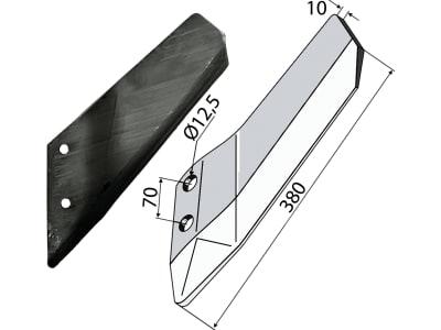 Industriehof® Scharflügel links/rechts 380 mm für Lemken Smaragd, Vergl. Nr. 337 4421/337 4420