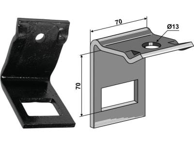 """Industriehof® Zinkenhalter """"D"""" für Federzinken 45 x 10 mm, Passender Rahmen 60 x 60 mm für Dal-Bo, 1.HH17-3521"""