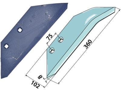 Industriehof® Scharflügel links/rechts, 360 mm für Rabe