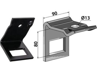 """Industriehof® Zinkenhalter """"D"""" 90 x 8 mm für Federzinken 60 x 12 mm mit Verstärkungsfeder 60 x 10 mm, Passender Rahmen 60 x 60 mm, universal, 1.HH17-3945"""
