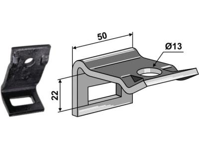 """Industriehof® Zinkenhalter """"D"""" 50 x 6 mm für Federzinken 32 x 10 mm, Passender Rahmen 50 x 12 mm, universal, 1.HH17-3101"""