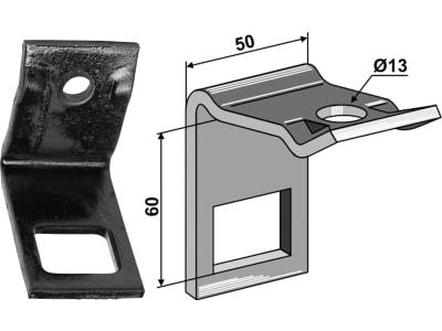 """Industriehof® Zinkenhalter """"D"""" 50 x 6 mm für Federzinken 32 x 10 mm mit Verstärkungsfeder 32 x 10 mm, Passender Rahmen 40 x 40 mm, universal, 1.HH17-3417"""